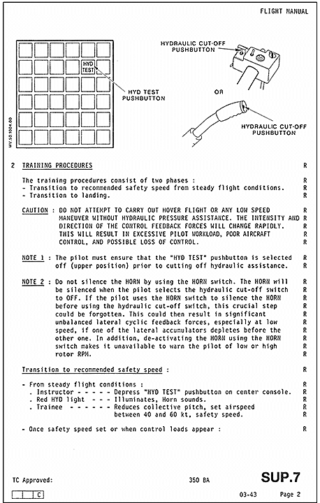 aviation investigation report a13q0021 transportation safety board rh tsb gc ca Eurocopter AS350 Inside eurocopter as350 flight manual pdf