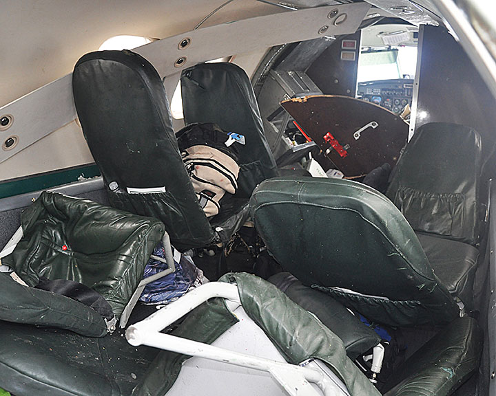 Photo of the aircraft cabin
