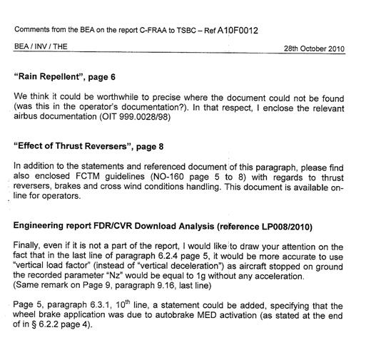 Aviation Investigation Report A10F0012 - Transportation Safety Board