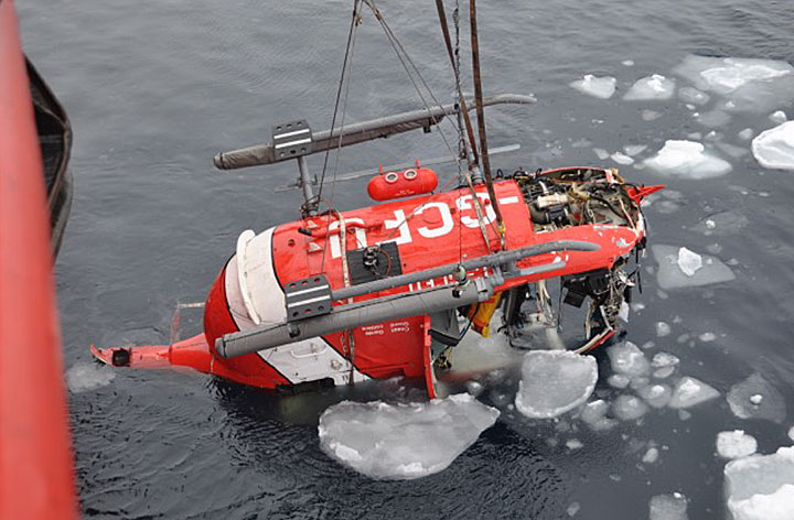 canadian coast guard helicopter accident cfit survivability and rh aerossurance com Eurocopter Ec635 BO-105 Helicopter