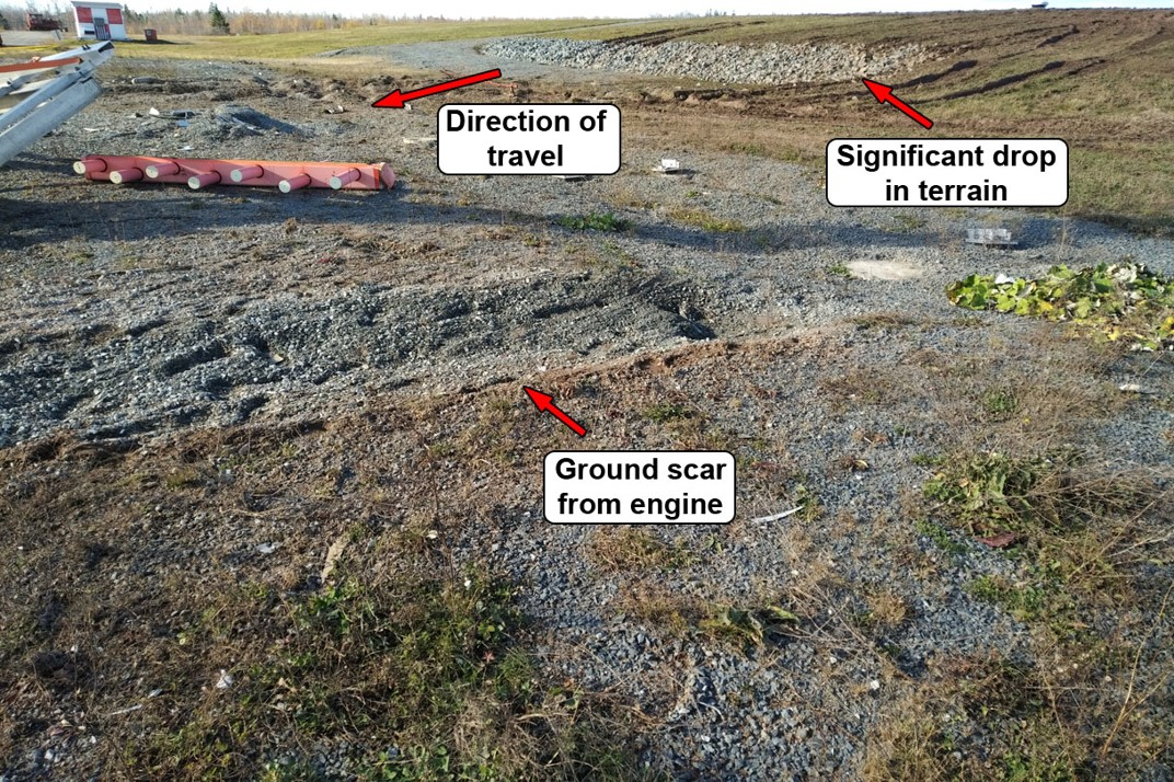 Close-up of ground scars (Source: TSB)