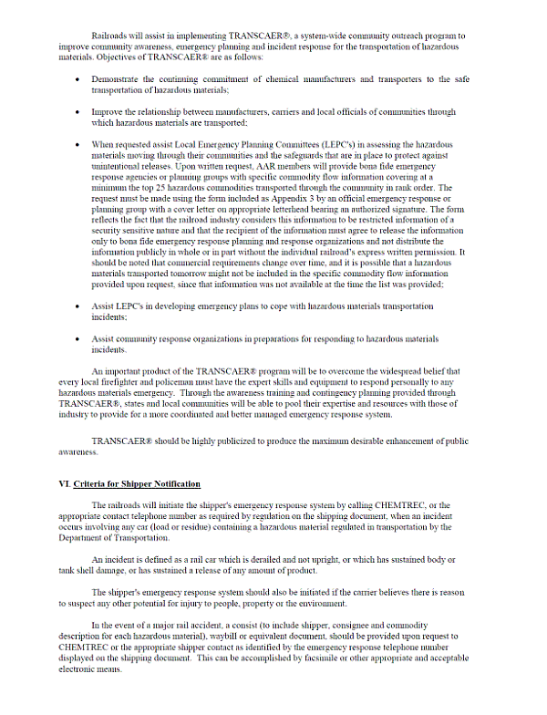Rail Recommendations R14-01, R...