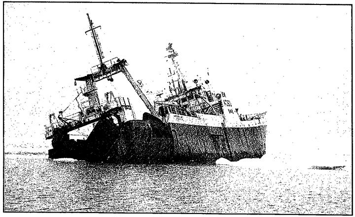 bateaux disparus avec cargaison dangereuse