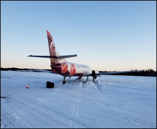 Occurrence aircraft after coming to a stop (Source: Ontario Provincial Police)