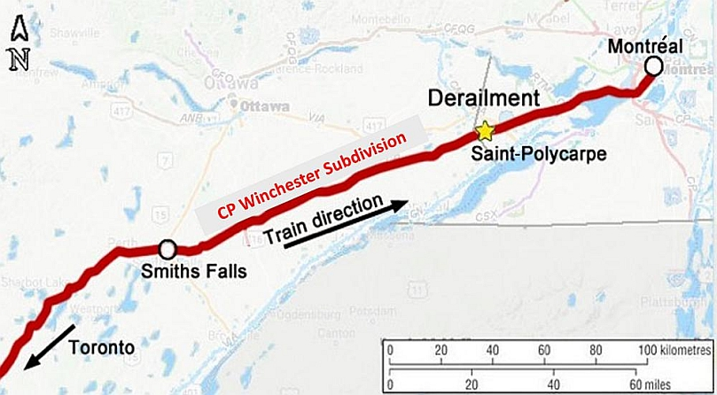 Winchester Canada On Map Rail transportation safety investigation report R18D0069