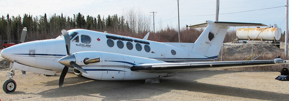Insufficient fuel for flight resulted in forced landing near Gillam, Manitoba